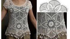 Patrón para tejer blusa a crochet en hilo de color blanco. Ver patrones abajo. Patrón para tejer blusa para dama a crochet en hilo de color beige. Esta es una [...]