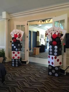 Entrance into the casino. Entrance to the casino . Casino Party Decorations, Casino Theme Parties, Party Themes, Birthday Parties, Casino Royale Theme, Party Ideas, Casino Themed Centerpieces, Game Night Decorations, 50th Birthday Themes