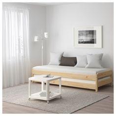 IKEA - UTÅKER Stackable bed with 2 mattresses pine, Meistervik
