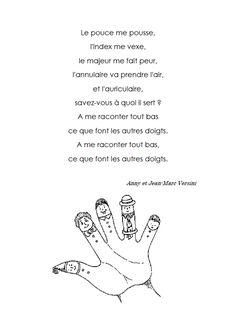 poésie sur les doigts de la main