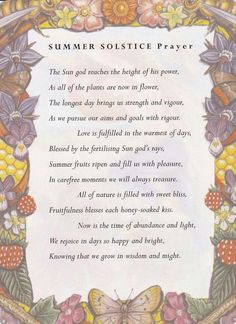 Summer Solstice prayer