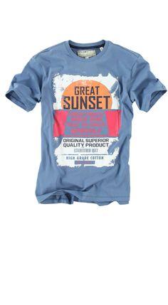 T-shirt Garcia F31120 ADLER MEN 240 Dirty Blue