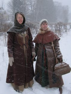 One: How could I pass up this snowy photo? Two: I love the stitching detail of the Birka coat on the left.