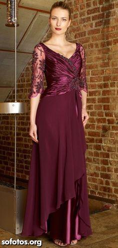 Vestido de festa vinho mullet