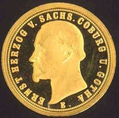 Saxony, 20 Mark 1872 E, gold coin, restrike mint 2007 2 g, 1.7 cm, in very fine.  Dealer Badisches Auktionshaus  Auction Starting Price: 45....
