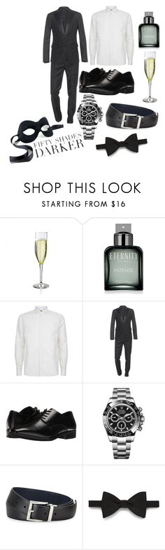 """Untitled #286"" by kokoxpops ❤ liked on Polyvore featuring Calvin Klein, Masquerade, Corneliani, Dsquared2, Stacy Adams, Rolex, Prada, Gieves & Hawkes, men's fashion and menswear"