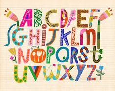 Alphabet Poster, Alphabet Art, Doodle Alphabet, Typography Alphabet, Alphabet Soup, Letter Art, Alphabet Design, Lettering Tutorial, Lettering Ideas
