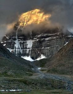 Sunrise at Mount Kailash --- Mount Kailash is a sacred mountain in western Tibet. It is located near the source of some of the longest and mightiest rivers in Asia.  It is considered a sacred place in four religions: Bön, Buddhism, Hinduism and Jainism.