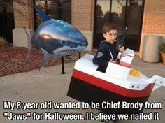 Chief Brody & Jaws Costume - EPIC!!! With the Right Soundtrack Playing in the Background