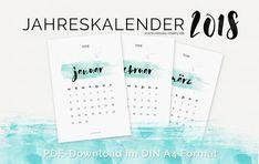 Desktopkalender und Printkalender 2018 | Misses Cherry: Print- & Desktopkalender 2018 #lettering #handlettering #watercolor #desktop #calendar2018 #desktopkalender2018 #missescherryfreebie2018 #print #printkalender2018