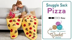 Crochet Pizza Snuggle Sack This super cute Pizza Snuggle Sack is the only version of the snuggle sacks that come