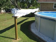 DIY rack pool cover
