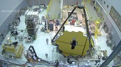 The covers come off the huge mirror that the James Webb Space Telescope - the planned successor to Hubble - will use to detect the light from the first stars to shine in the Universe.