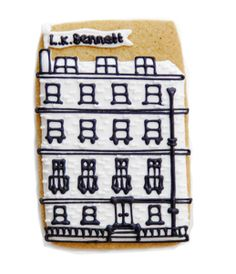 How incredible is the detail on this L.K Bennett house! These biscuits were used in conjunction with their S/S '13 previews in London.