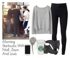 """""""Morning Starbucks With Niall, Zayn, And Louis"""" by the4dipshits ❤ liked on Polyvore featuring STELLA McCARTNEY, Tory Burch, rag & bone and SPURR"""