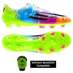 The Adidas F50 Adizero-Messi (Synthetic) TRX FG Soccer Cleats are the same boots that are worn by Leo Messi. This boot is superlight, while maintaining the structure to deliver the balance and stability that is desired. Pick yours up today at www.soccercorner.com