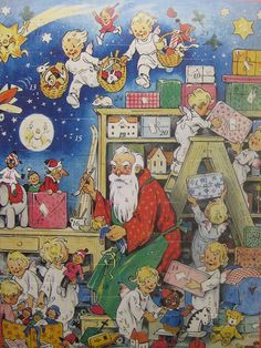 Advent Calendar Germany Christmas Santa Claus by 32NorthSupplies