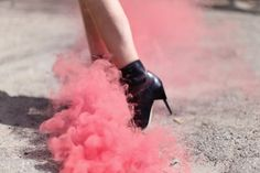 Check out this lovely fashion photoshoot with color flares included. Pink Smoke, Colored Smoke, Pink Photography, Fashion Photography, Photography Ideas, Smoke Cloud, Jem And The Holograms, Smoke And Mirrors, Aesthetic People