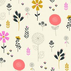 PRE ORDER- Floral- Cotton Candy fabric by Dashwood studio