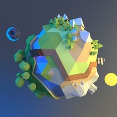 low poly landscape - Google Search