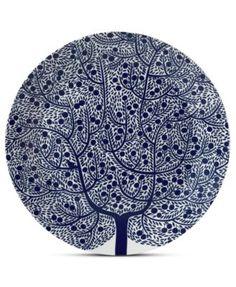 Royal Doulton Dinnerware, Fable Round Platter Blue Tree