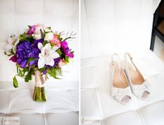 Bride's bouquet by Petalena and shoes. Photo by Geneve Rege Photography, 2011.