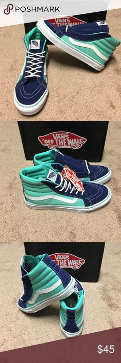 Vans Sk8 Hi Slim 2 Tone Twilight Blue Skate Shoes New in box. Unisex. Women's 8. Men's 6.5 Vans Shoes Sneakers