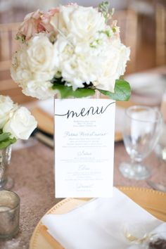 Whimsical Wedding Menu Card | photography by http://www.hsrphoto.com
