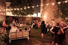 outdoor party...lights always make a party look special