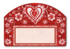 """Folk Valentine Address Sign by MagnetWorks. $12.50. Includes 2 sets of easy-to-apply self-adhesive address numbers.. Or display as hanging address sign using our Ornamental Address Post.. Yard Designs are vinyl coated for long lasting beauty.. Magnetic address sign measures 14"""" x 10"""".. Address plaques snap into place onto our Yard Stake.. Magnetic address sign by Yard DeSigns. Address plaques are screen-printed and vinyl coated for vivid long-lasting color and are reuseable. ..."""