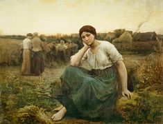 Jules Breton, French painter (d. 1906)