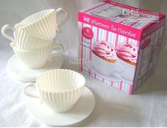 """Silicone teacup cupcake baking cups. These would be perfect for a """"tea party"""" themed  birthday for my munchkin!"""