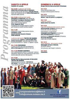 #Lunigiana. #Dante: #Mulazzo celebra il Sommo Poeta sabato 8 e domenica 9 aprile con un week end per tutti i gusti. Leggi il programma
