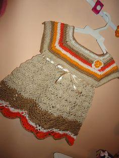 Fazendo arte com a dulci: vestido de croche pra bebe