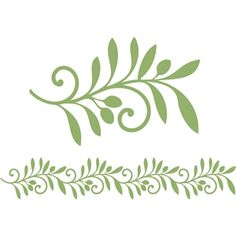 Silhouette Design Store - View Design 2 piece olive branch and border set Silhouette Design, Flower Silhouette, Silhouette Files, Leaf Template, Templates, Christmas Tree Decorations, Christmas Cards, Branches, Flower Clipart
