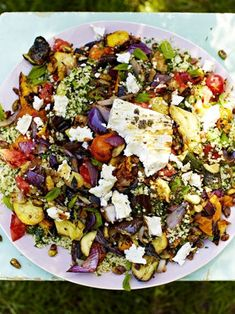 Griddled vegetables & feta with tabbouleh