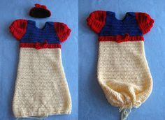 Donna's Crochet Designs Blog of Free Patterns: Snow White & Prince Charming Sweet Pea Outfits For Baby