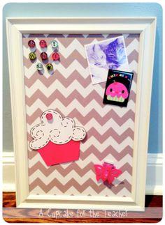 A Cupcake for the Teacher: DIY Fabric Magnet Board!