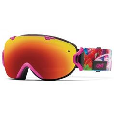 Smith Womens Snow Goggle IOS Magenta Tropidelic Red Sol X Mirror