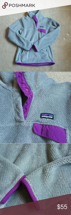 Patagonia retool Patagonia grey and purple retool size small excellent condition Patagonia Jackets & Coats