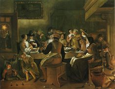 Jan Steen - Driekoningenfeest (Museum of Fine Arts, Boston)