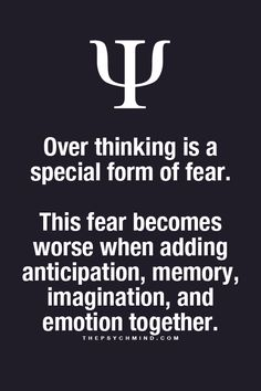 Psychology Facts: Over-Thinking