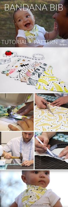 Baby Accessories How to Make a Bandana Bib for your Little One | Video Tutori...