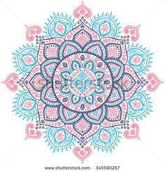 Beautiful vector Christmas snowflake mandala ornament