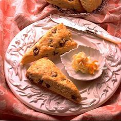 Orange Raisin Scones   Land O'Lakes, I'm going to try choc covered raisins when I make these little beauties