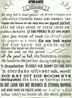 Afrikaanse Idiome.