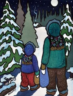 Canadian Native Art - from prehistory to present day. Native Style, Native Art, Indigenous Art, Prehistory, Present Day, Smurfs, Nativity, Native American, Disney Characters