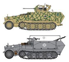 Deutsche Halbkettenfahrzeug Version
