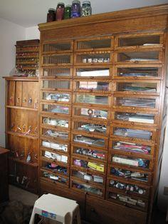 Vintage Habadashery Case, Pharmacy Storage Unit And Pharmacy Label Case - I WANT THIS!!!