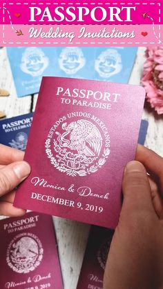 Pearl Shimmer Passport wedding invitations for a destination wedding in paradise! Wedding Invitations Canada, Passport Wedding Invitations, Wedding Invitation Design, Wedding Stationary, Cruise Ship Wedding, Punta Cana Wedding, Wedding Abroad, Love Is In The Air, Paradise